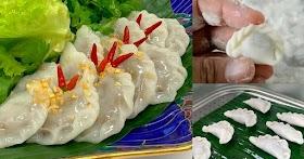 สูตรปั้นขลิบนึ่งไส้ปลา อาหารว่างไทยโบราณ หาทานยาก บอกละเอียดทำตามได้เลย