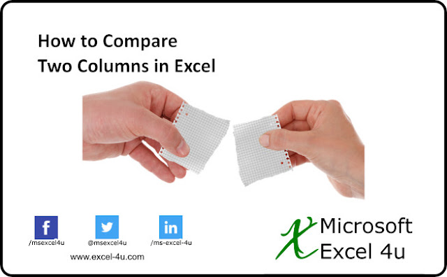 How to Compare Two Columns in Excel (Basic Level)