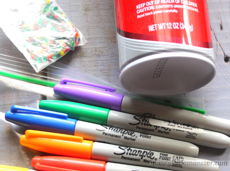 rainbow sensory bag supplies