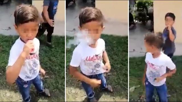Viral Video Dua Bocah Asyik Nge-vape, Diduga Hasil Uang THR