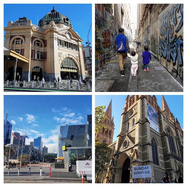 【墨尔本景点】 墨尔本亲子游@Day7 Part 2 联合巷 Union Lane 涂鸦街 + 弗林德斯大街车站 Flinders Street Station + 圣保罗大教堂 St. Paul's Cathedral