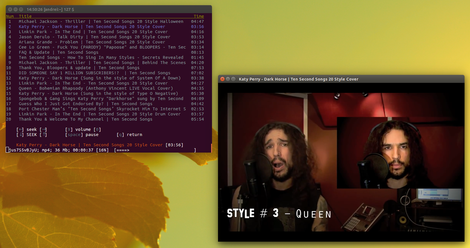 YouTube Command Line Player And Downloader `mps-youtube` 0 2