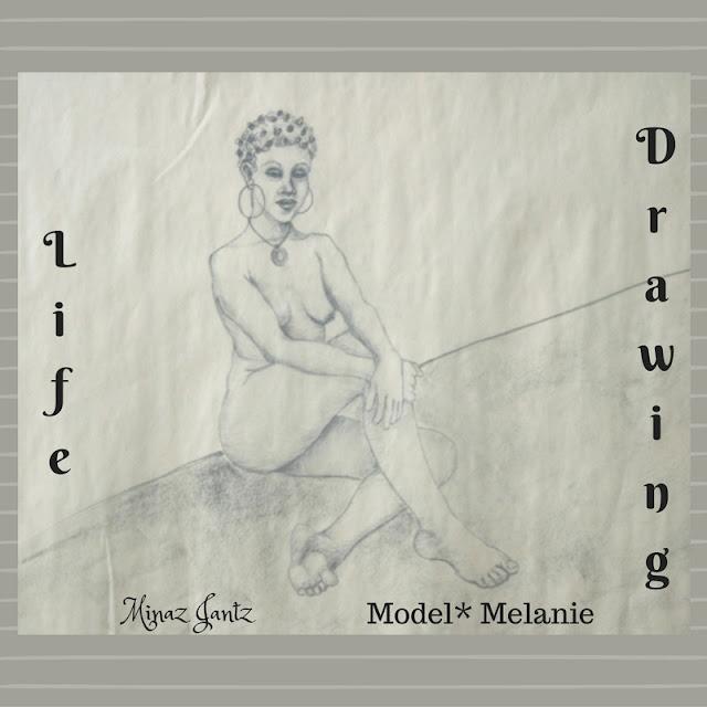 Nude Drawing by Minaz Jantz. Model Melanie