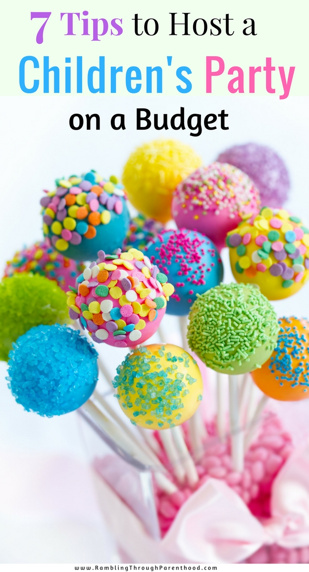 Here are my top 7 tried and tested tips to hosting a fantastic and fun-filled children's birthday party when you are on a budget.