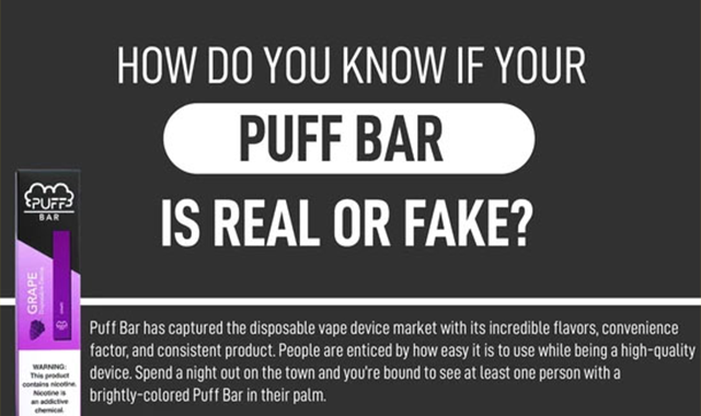 How Do You Know if Your Puff Bar is Real or Fake? #infographic