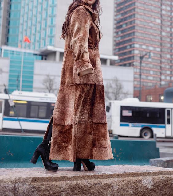 Kelly Fountain, New York Fashion week, photoshoot, fur coat