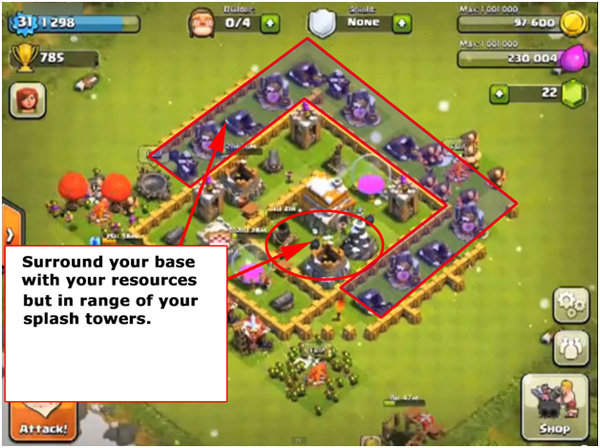 Town hall level 5 base clash of clans
