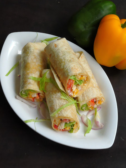Chicken Wraps with vegetables