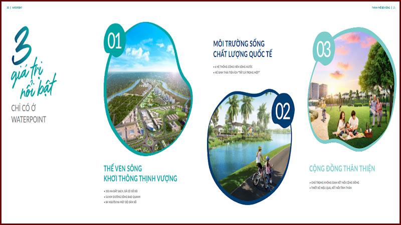 3 giá trị nổi bật của khu đô thị Waterpoint