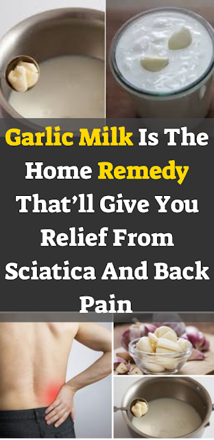 Garlic Milk Is A Simple Home Remedy That'll Give You Relief From Sciatica And Back Pain