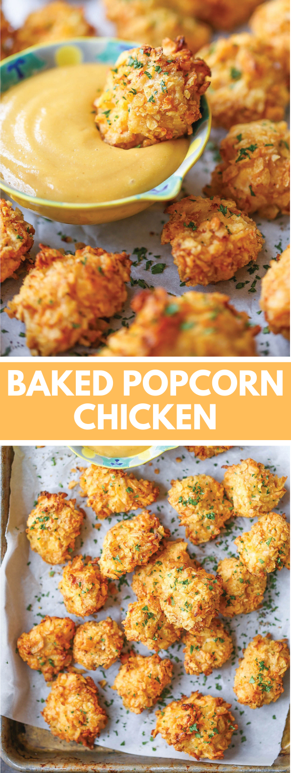 BAKED POPCORN CHICKEN #snacks #appetizer