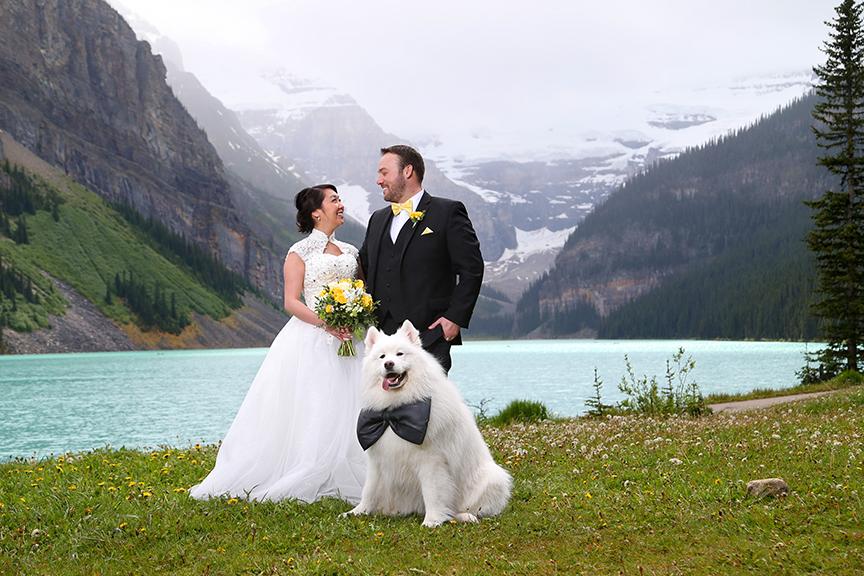 Summer Wedding Lake Louise Meadow