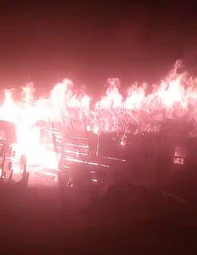 93 escape death as fire guts building in Lagos