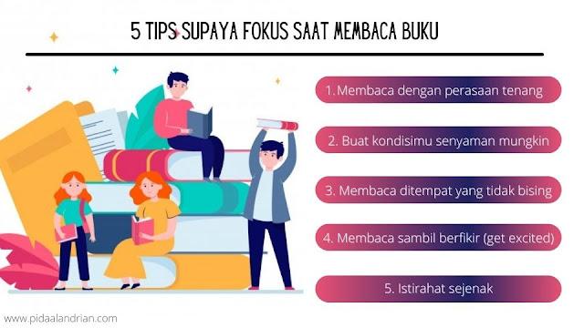 5 tips supaya fokus saat membaca buku