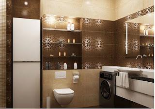 Baños decorados en marrón beige