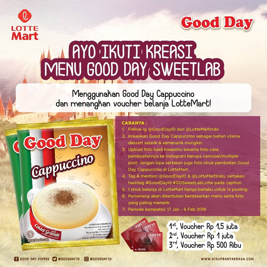 #LotteMart - #Promo Kreasi Menu Good Day SweetLab Free Voucher LotteMart Jutaan Rupiah