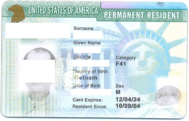Nhận làm visa định cư Mỹ, thẻ thường trú nhân Mỹ