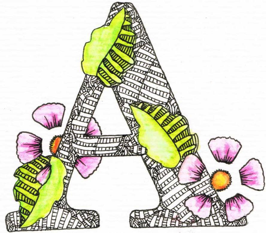 Creative Doodling with Judy West: Detailed Alphabet ...