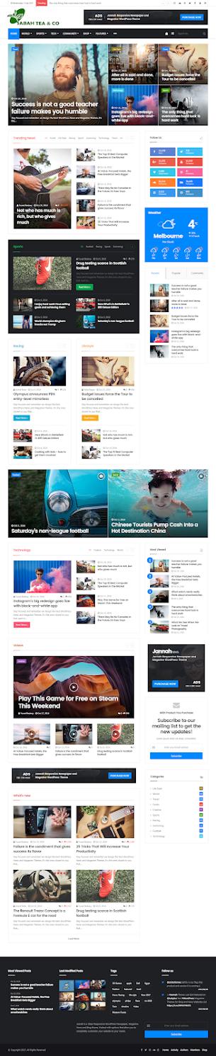 Sahaba bd News v5.4.0 – WordPress Theme Newspaper Magazine
