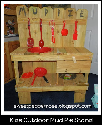 http://sweetpepperrose.blogspot.com/2013/12/kids-outdoor-mud-pie-stand.html