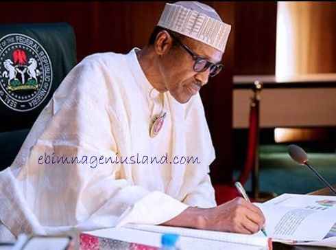 President Buhari Of Nigeria Signs 8 Bill into law