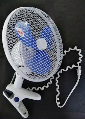 人間用クリップ扇風機