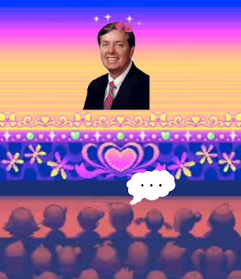 Senator Lindsey Graham South Carolina Visual Competition Pokémon Super Contest dress-up shameful ugly