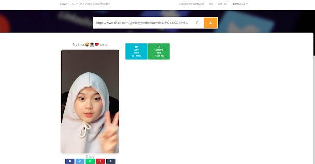 Download Video TikTok Menjadi Mp4 atau Mp3