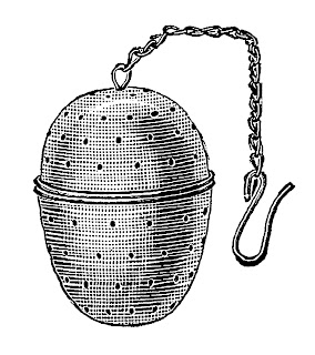 tea ball digital image antique illustration