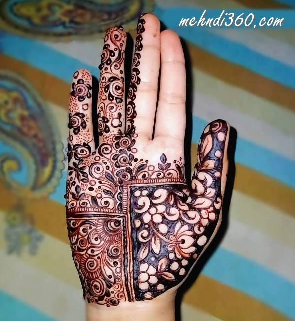 Front Hand Beautiful Mehndi Design