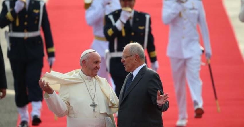 PAPA FRANCISCO EN PERÚ: Santo Padre es recibido por presidente Kuczynski - www.papafranciscoenperu.pe