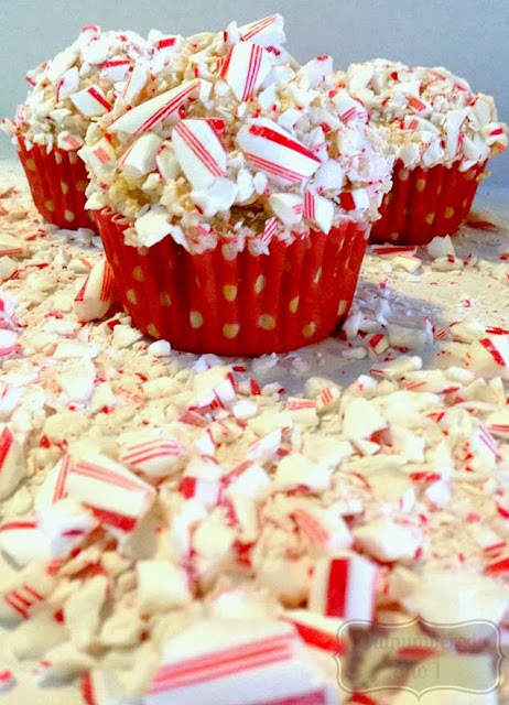 Peppermint Crunch Cupcakes