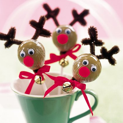 Red-nosed Reindeer Lollipops