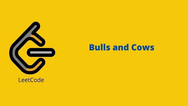 Leetcode Bulls and Cows problem solution