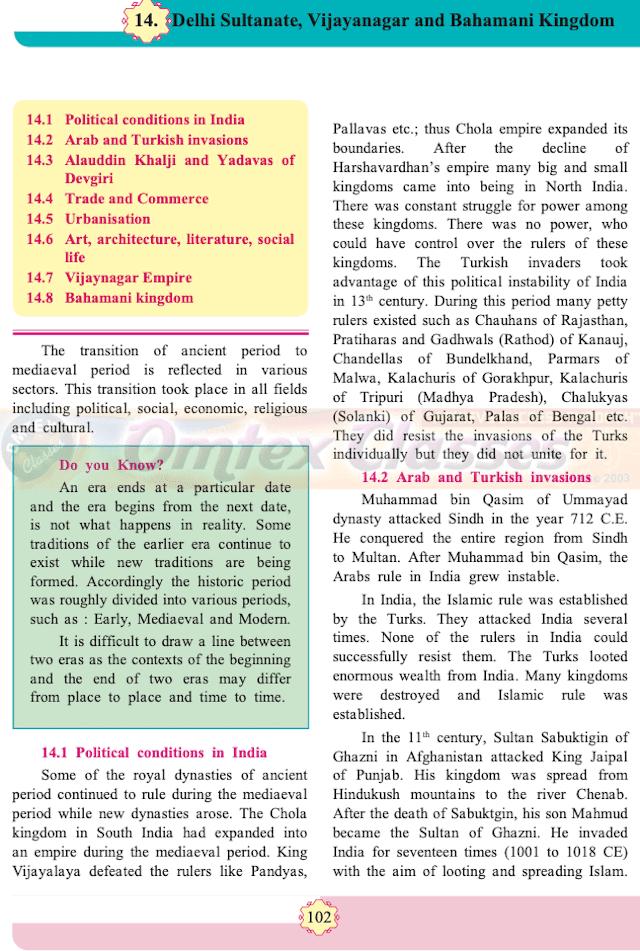 Chapter 14: Delhi Sultanate, Vijayanagar and Bahamani Kingdom