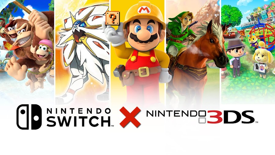 nintendo switch 3ds game donkey kong country returns 3d pokémon moon super mario maker legend of zelda ocarina of time animal crossing new leaf