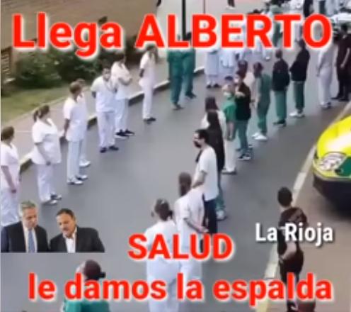 Una fake news donde se muestra el rechazo de los trabajadores de salud al Presidente. Fue en Bélgica.