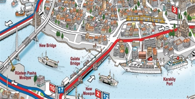 stanbul Tourist Map Maps Of Cities