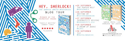 Hey Sherlock blog tour banner