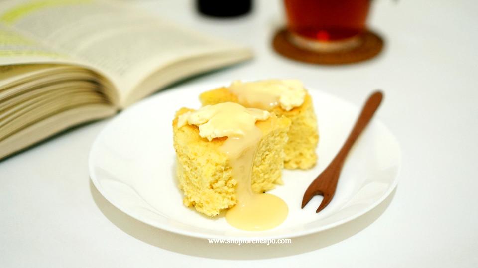kue dapat ditambahkan topping krim keju dan krimer kental manis