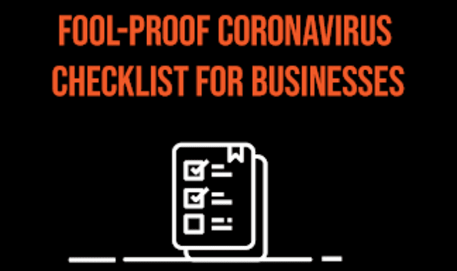 Foolproof Coronavirus Checklist For Businesses