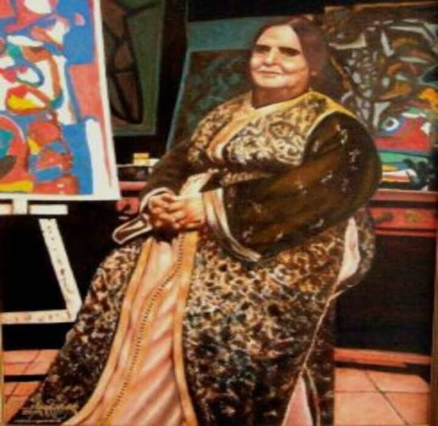 صورة الشعيبية طلال ، الفنانة التشكيلية الشعيبية طلال