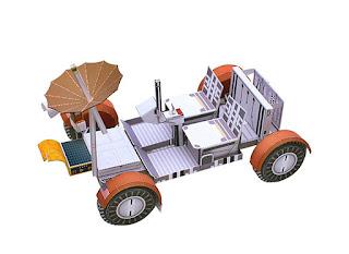 DIY Papercraft Space Lunar Roving Vehicle Folding 3D