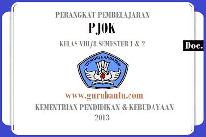 Perangkat Pembelajaran [PJOK] Kelas [VIII/8] SMP/MTs K13 Revisi Terbaru