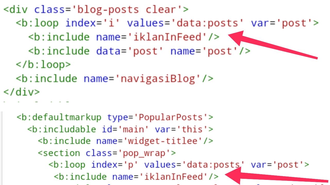 Cara Memasang Iklan Infeed Di Widget Blog dan Popular Post Template Masih Terjaga