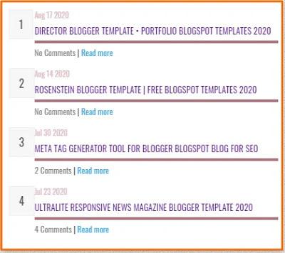 Best Cool Recent Post Widget for Blogger