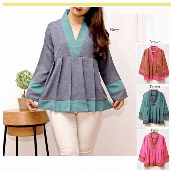 Jual Baju Lengan Panjang Kimono Remple Blouse - 13153