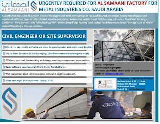 Civil Engineer or Site Supervisor jobs in Saudi Arabia