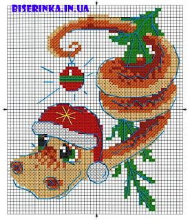 Вышивка бисером, схемы бесплатно: змейка новогодняя
