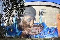 Wagga Wagga Street Art | Painted Water Tank  by Poncho Army